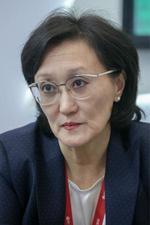 辞任したロシア極東ヤクーツクのサルダナ・アフクセンチエワ市長=サンクトペテルブルク(タス=共同)