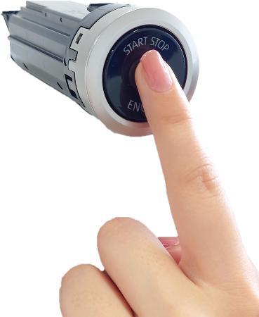 東海理化が開発した指紋認証機能付きのエンジンスイッチ