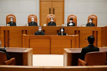 大分県の教員採用不正を巡る住民訴訟の差し戻し上告審判決が開かれた最高裁第3小法廷=14日午後