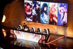 中国重慶市で開催されたネットゲーム「王者栄耀」の大会=7月(CNS=共同)