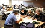広島市で開かれた原爆の「黒い雨」被害に関する相談会=19日午前