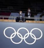 東京五輪の開会を宣言される天皇陛下=23日夜、国立競技場