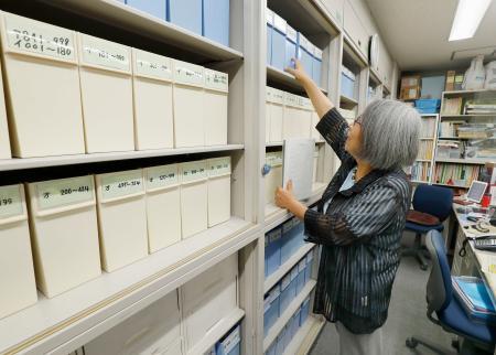 「東友会」が保管している被爆者の相談カルテ=7月23日、東京都文京区(画像の一部を加工しています)