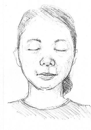 三重県桑名市の木曽川西岸で遺体で見つかった女性の似顔絵(三重県警提供)