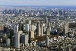 東京都心。中央は都庁